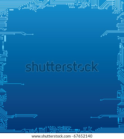 Circuit board frame - stock vector