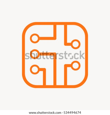 circuit board icon stock vector