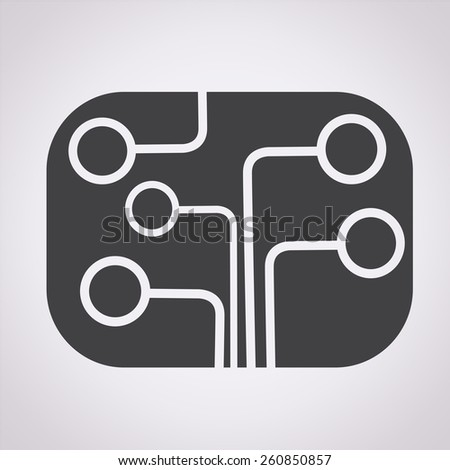 Circuit board icon , technology