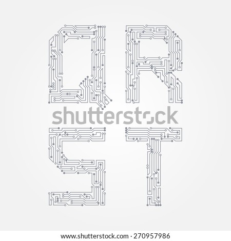 Modern Circuit Board Letters Pattern - Schematic Diagram Series ...