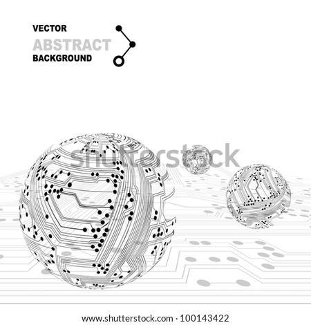 circuit board in the shape of the ball