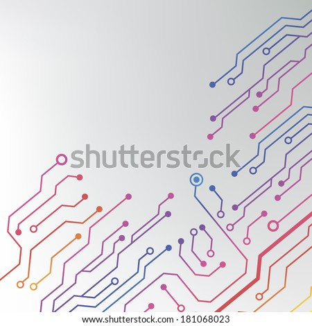circuit board pattern abstract