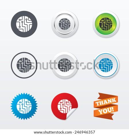 circuit board sign icon