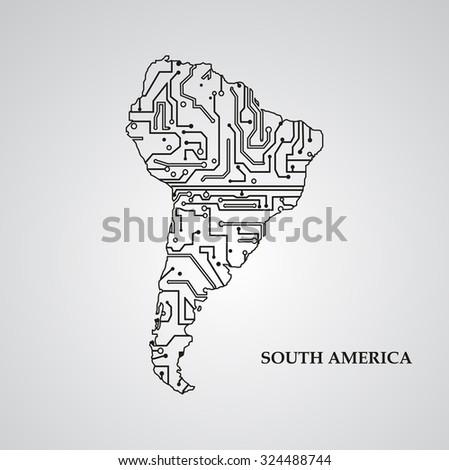 circuit board south america eps