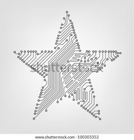 circuit board star vector