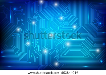 circuit board technology blue