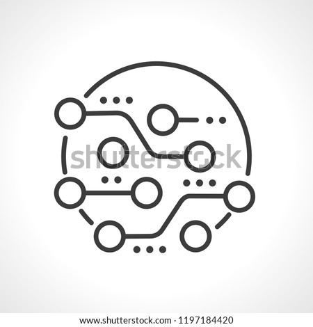 Circuit board, technology icon, vector.