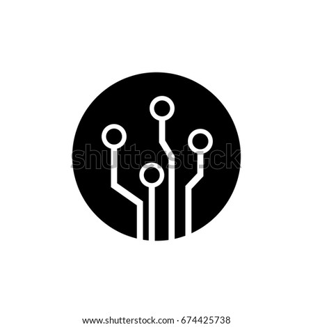 Circuit board,technology icon,vector illustration.