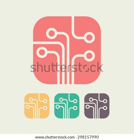 circuit board  technology icon