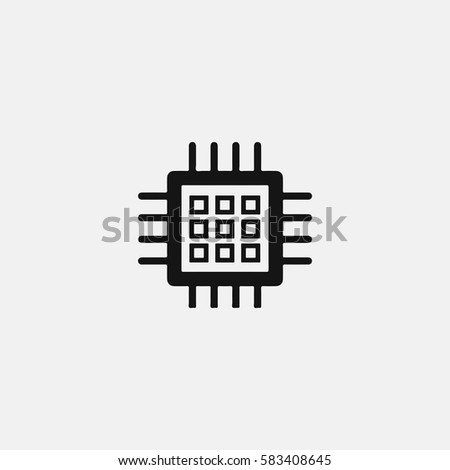 circuit board technology vector icon