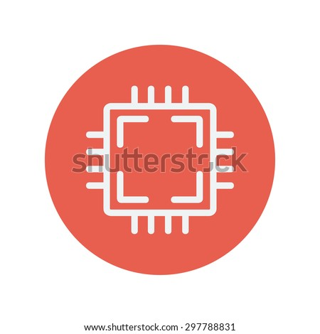 circuit board thin line icon
