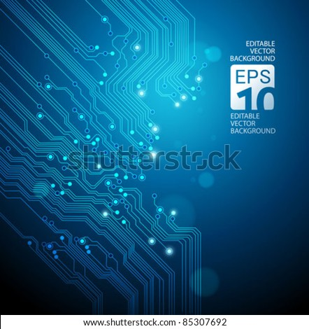 circuit board vector blue...