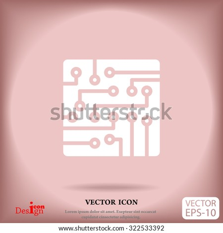circuit board vector icon