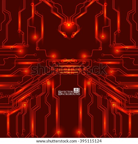 circuit board vector red