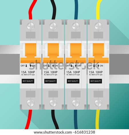 circuit breaker with wiring