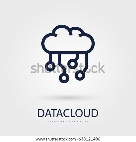 Cloud Data Vector Icon - Download Free Vector Art, Stock