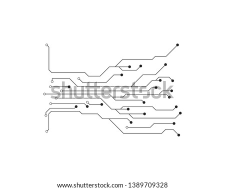 Circuit illustration design vector symbol logo technology