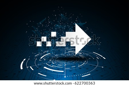 circuit line arrow movement loading design concept background