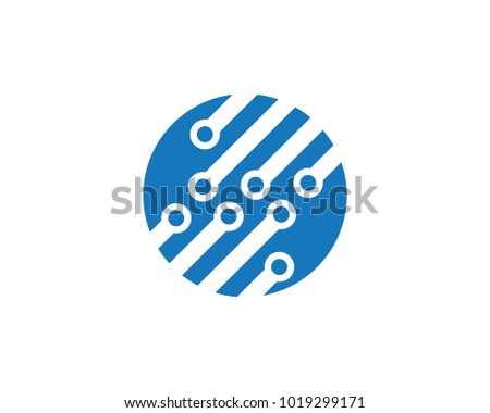 Circuit Logo Template vector illustration icon design