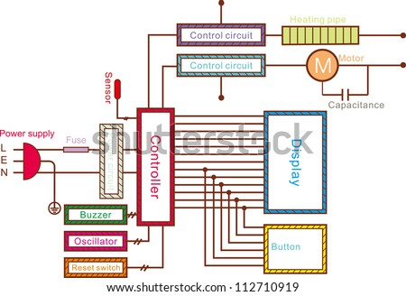 circuit schematic diagram stock vector illustration, wiring diagram