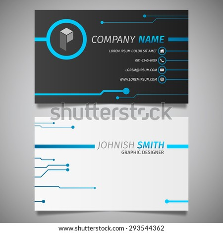Iconswebsite icons website search over 28444869 icons icon circuit technology creative design simple business card black and blue template vector colourmoves