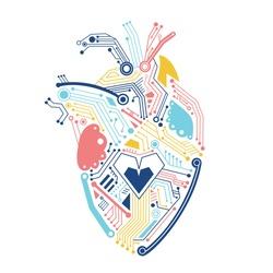 Circuital human heart machine robot