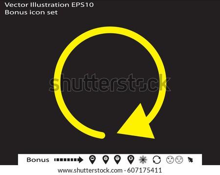 circular arrow icon, vector illustration eps10
