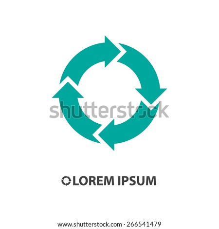 circular arrow sign icon