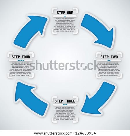 Circular Arrows - Four Steps