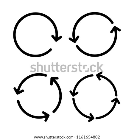 Circular arrows sign icon set vector