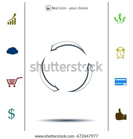 circular arrows vector icon