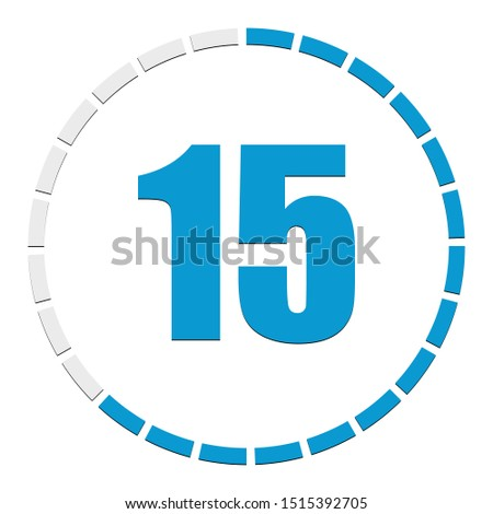 Circular chart, graph. Progress, completion, step indicator. Diagram from 1-24 sections. Segmented circle as duration, sequence, infographics element.