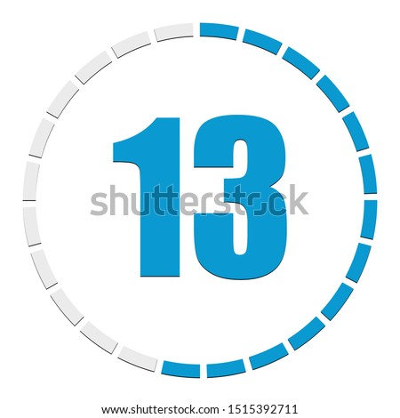 Circular chart, graph. Progress, completion, step indicator. Diagram from 1-24 sections. Segmented circle as duration, sequence, steps infographics element.