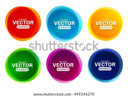 circular colored banners