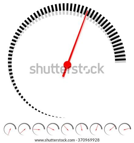 circular dial  gauge template