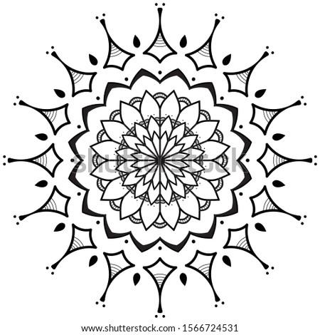 Circular flower Mandala pattern. Vintage decorative elements, decorative ornament, ethnic oriental style. Vector Illustration.