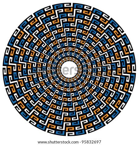 circular geometric maya
