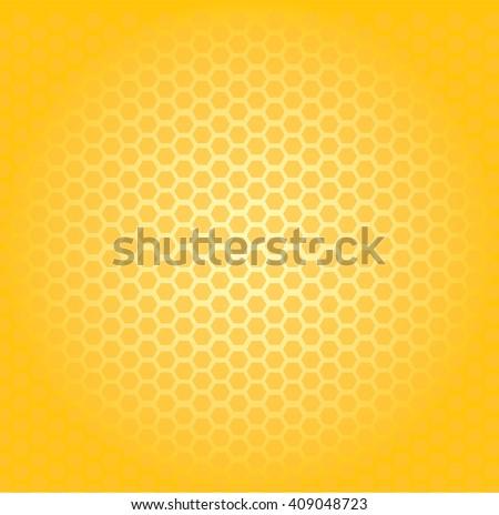 Circular honeycomb background. Elliptic gradient.