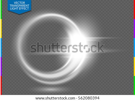 Shutterstock Circular lens flare transparent light effect. Abstract ellipse white luxury shining rotational glow line. Power energy element. Glowing ring trace background. Round shiny vector circle swirl trail