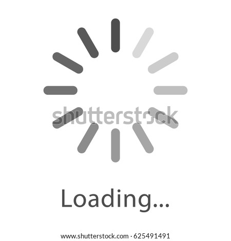 circular loading sign  isolated