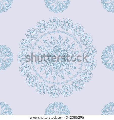 Circular mandala pattern ornament for your design