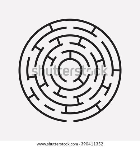 circular maze puzzle on white