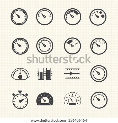 circular meter icons set