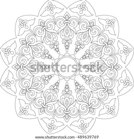circular ornament ii b w