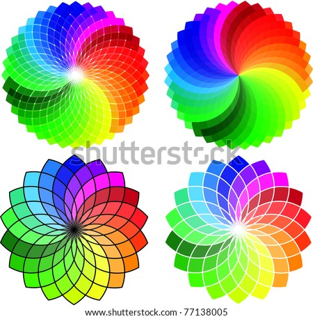 Circular Pattern set, vector abstract background