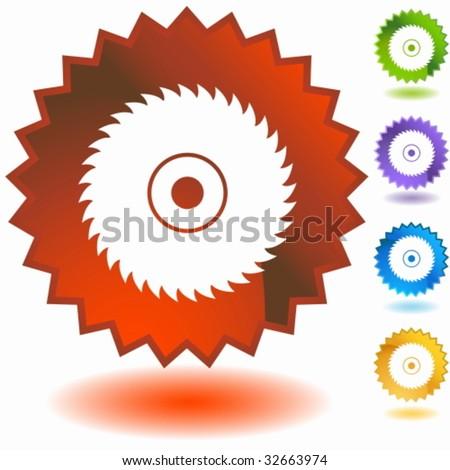 circular saw blade badge
