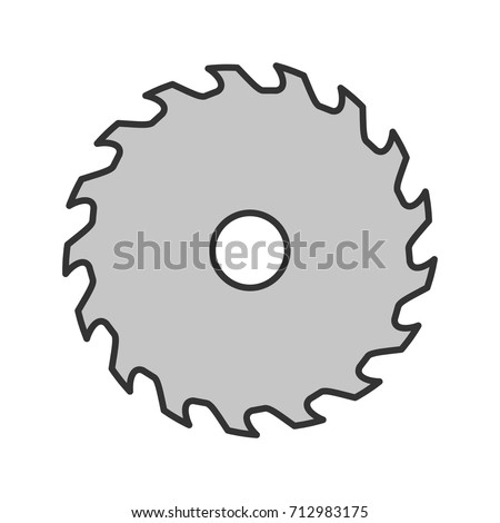 circular saw blade color icon