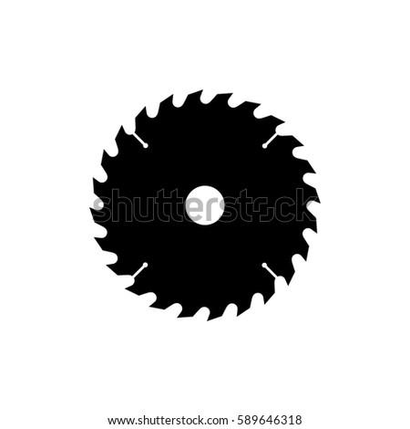 circular saw blade icon black