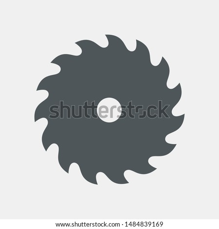 Circular saw blade icon quality vector illustration cut Сток-фото ©