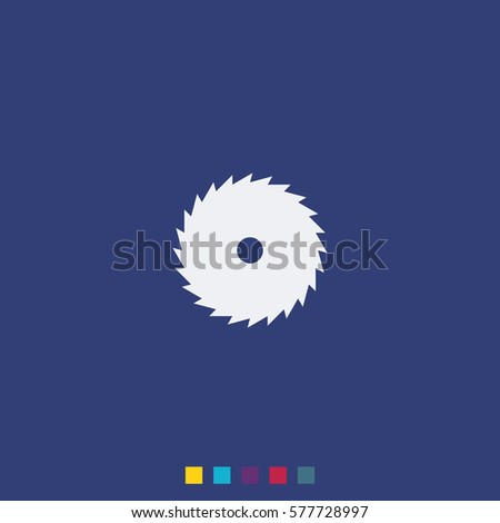 Circular saw blade icon. Saw wheel illustration.